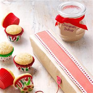 Cinnamon Mini Muffins and Cinnamon Butter Recipe