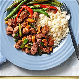 Classic Cashew Beef for Two Recipe
