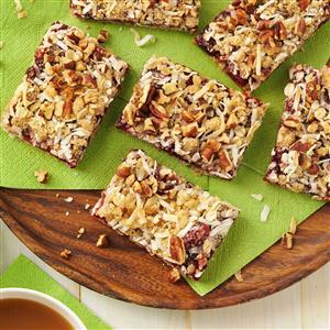 Coconut Cranberry Oat Bars Recipe
