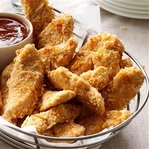 Coconut-Crusted Turkey Strips Recipe