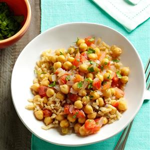 Coconut-Ginger Chickpeas & Tomatoes Recipe