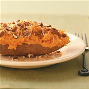 Coconut Twice-Baked Sweet Potatoes Recipe