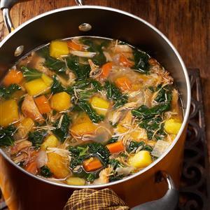 Colorful Chicken 'n' Squash Soup Recipe