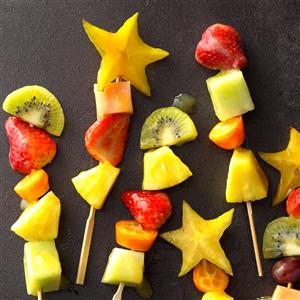 Colorful Fruit Kabobs