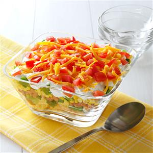Corn Bread Layered Salad Recipe