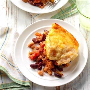 Cornbread-Topped Frijoles Recipe
