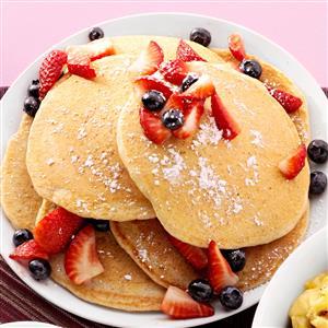 Cornmeal-Wheat Pancakes Recipe
