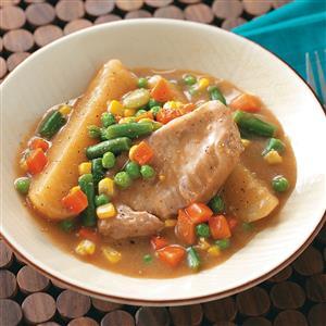 Country Pork Chop Supper Recipe