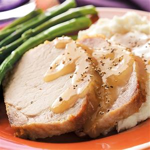 Country-Style Pork Loin with Gravy