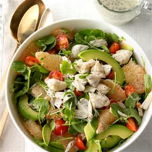 Crab, Grapefruit and Watercress Salad Recipe