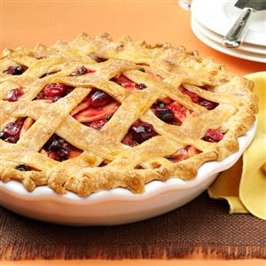 Cranberry-Apple Lattice Pie