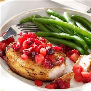 Cranberry-Apple Pork Chops Recipe