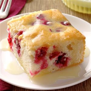 Cranberry Cake with Almond-Butter Sauce Recipe