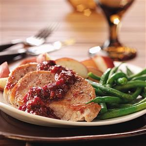 Cranberry-Kissed Pork Chops Recipe