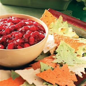 Cranberry-Mango Salsa with Tree Chips Recipe
