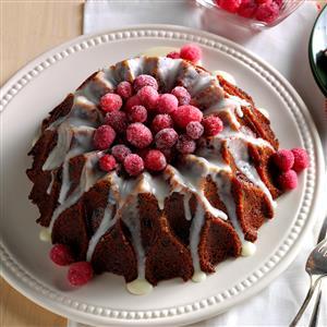 Cranberry-Orange Cake with Lemon Glaze Recipe