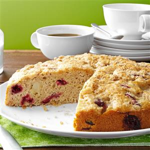 Cranberry Pear Coffee Cake Recipe