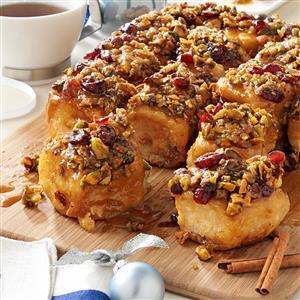 Cranberry-Pistachio Sticky Buns Recipe