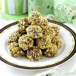 Cranberry-Pistachio Truffles Recipe