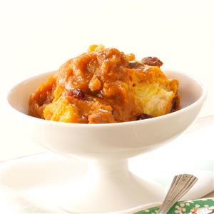 Cranberry-Pumpkin Bread Pudding Recipe