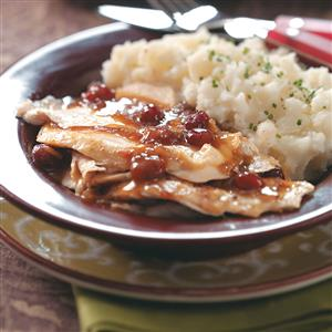 Cranberry Turkey Breast with Gravy Recipe