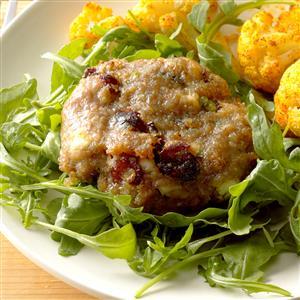 Cranberry Turkey Burgers with Arugula Salad Recipe