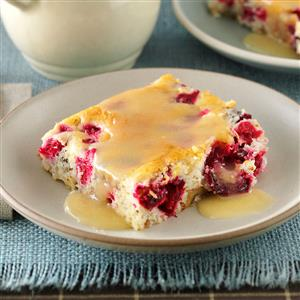Cranberry-Walnut Cake with Butter Sauce Recipe