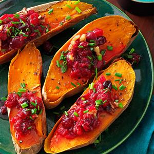 Cranberry-Walnut Sweet Potatoes Recipe