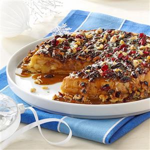 Cranberry-Walnut Upside-Down Apple Pie Recipe