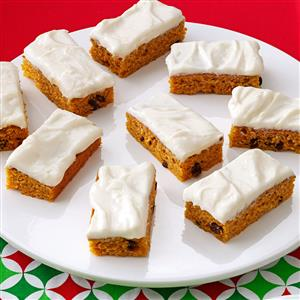 Cream Cheese Frosted Pumpkin Bars Recipe