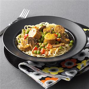Creamy Chipotle Pasta with Sausage Recipe