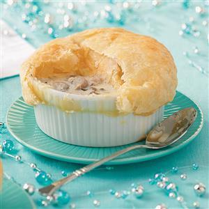 Creamy Garlic & Mushroom Soup with Pastry Caps Recipe