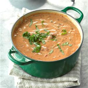 Creamy Herbed Tomato Soup Recipe