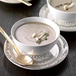 Creamy Mushroom-Thyme Soup Recipe