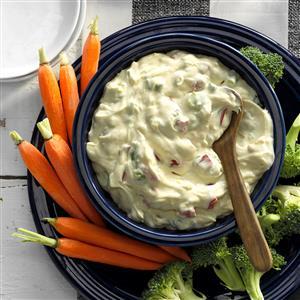 Creamy Red Pepper Veggie Dip Recipe
