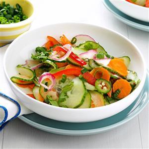 Crisp & Spicy Cucumber Salad Recipe