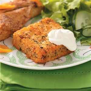 Crispy Seasoned Polenta Squares Recipe