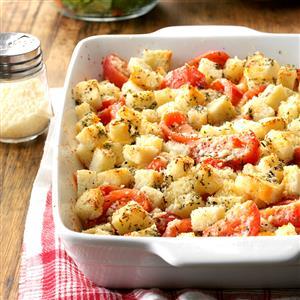 Crouton Tomato Casserole Recipe