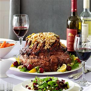 Crown Roast with Spring Rice Pilaf Recipe
