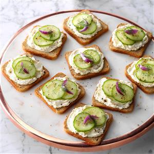 Cucumber Party Sandwiches Recipe