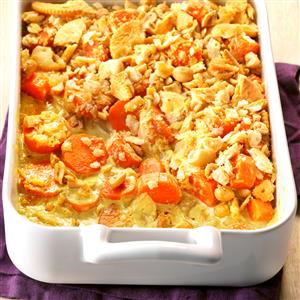 Curried Carrots with Crunchy Peanut Topping Recipe