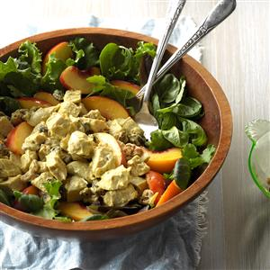 Curried Chicken & Peach Salad Recipe