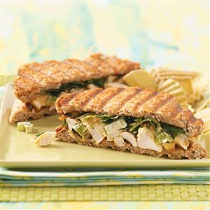 Curried Chicken Paninis Recipe
