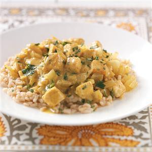 Curried Tofu with Rice