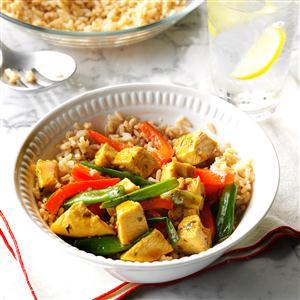 Curry Turkey Stir-Fry Recipe