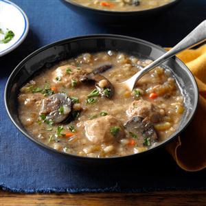 Deb's Mushroom & Barley Soup Recipe