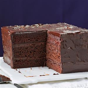 Deep & Dark Ganache Cake Recipe