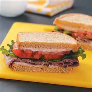 Deli Beef Sandwiches with Horseradish Mayonnaise Recipe