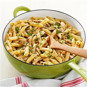 Delish Pesto Pasta with Chicken Marsala Recipe