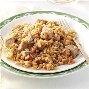 Double-Duty Pork with Spanish Rice Recipe